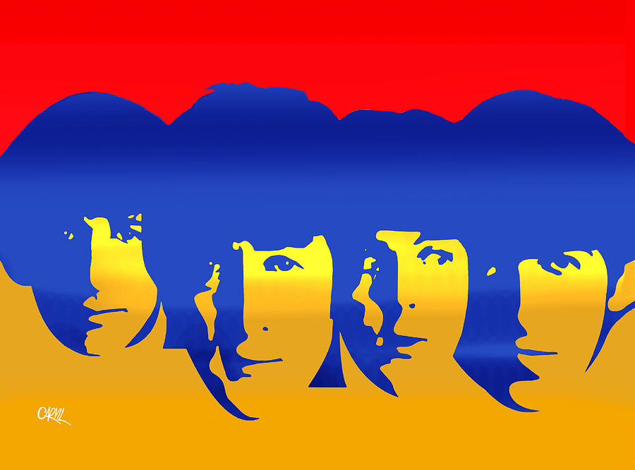 Beatles Painting - Beatles Pop by Carvil