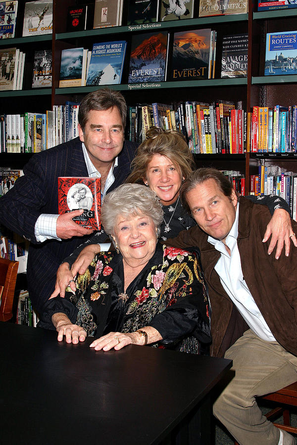 Bookstore Appearance By Dorothy Photograph - Beau Bridges, Lucinda Bridges And Jeff by Everett