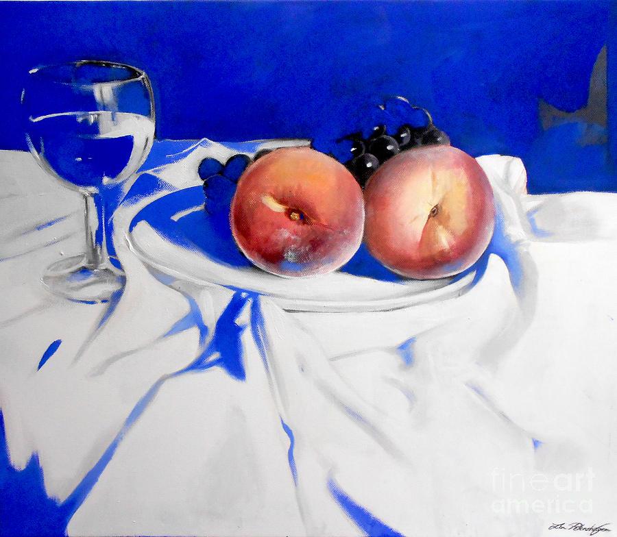 Still Life Painting - Beaute De La Peche by Lin Petershagen