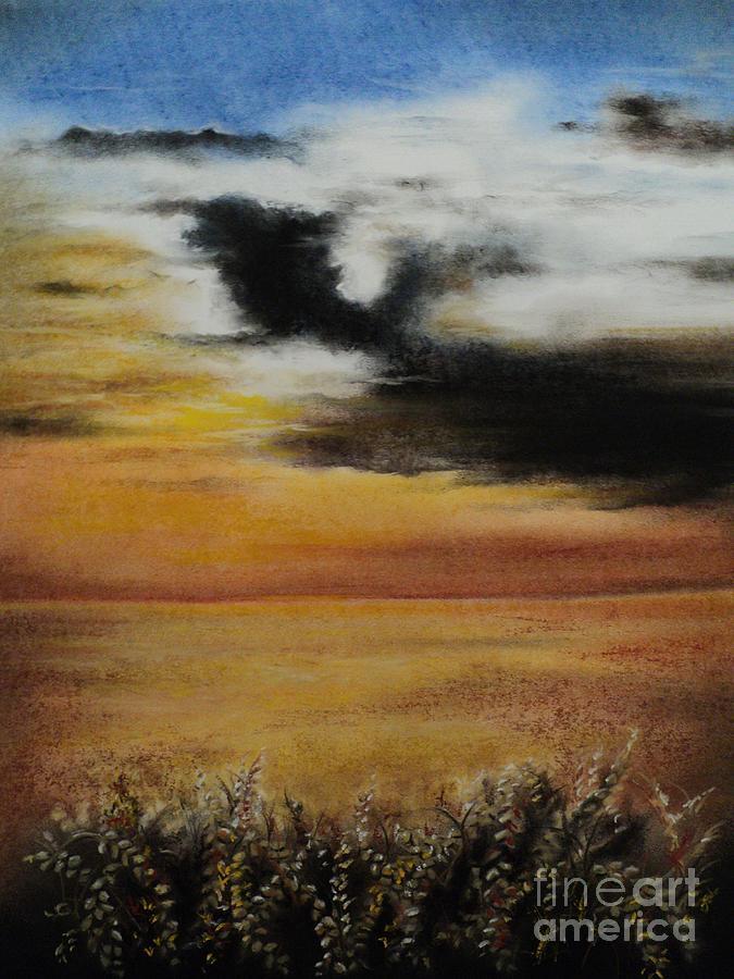 Wheat Drawing - Beautiful Beginnings by Carla Carson