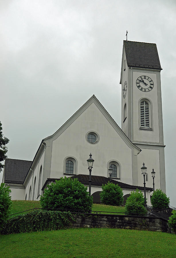 Church Photograph - Beautiful Church In The Swiss City Of Lucerne by Ashish Agarwal