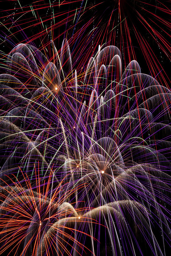 Fireworks 4th Of July Photograph - Beautiful Fireworks by Garry Gay