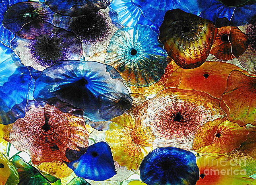 Glass Photograph - Beautiful Glass Flowers by Judee Stalmack