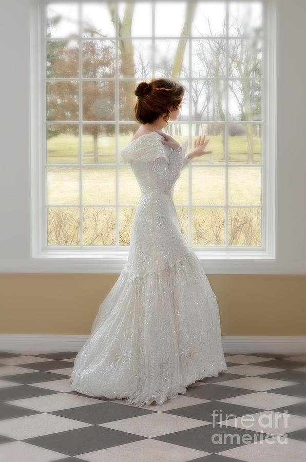 Beautiful Photograph - Beautiful Lady By Window by Jill Battaglia
