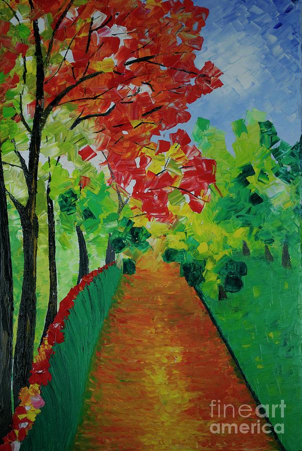 Landscape Painting Painting - Beautiful Sunday  by Jalal Gilani