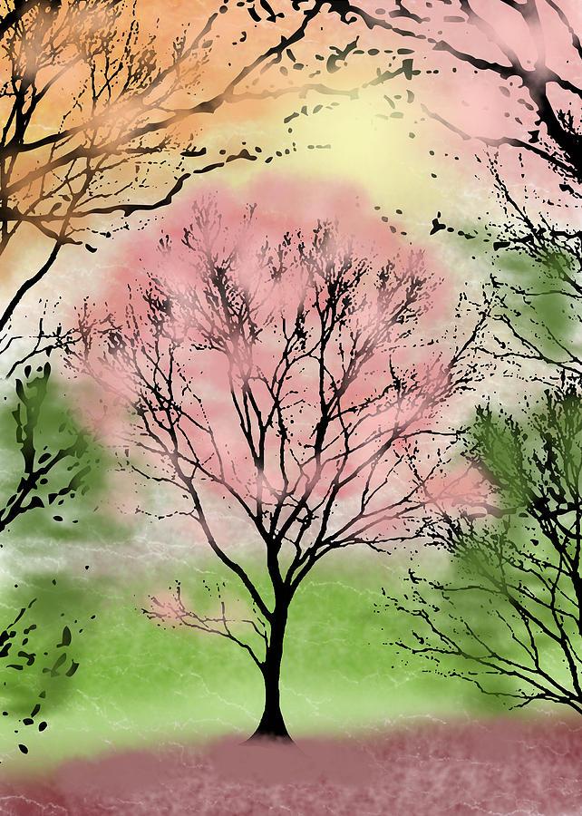 Beautiful tree art digital art by janet palaggi for Beautiful drawings of trees