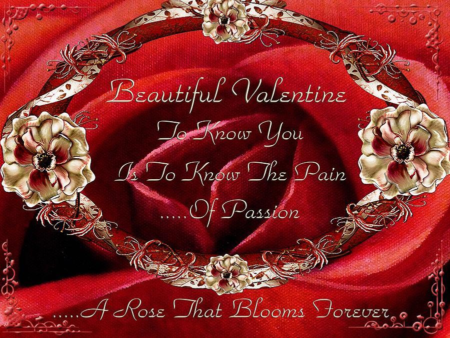 Valentine Painting - Beautiful Valentine by Georgiana Romanovna