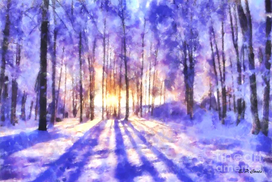 Winter Painting - Beautiful Winter Morning by Elizabeth Coats