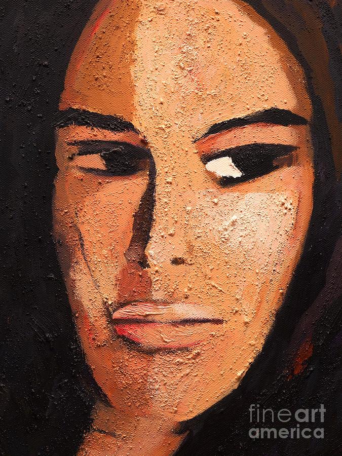 Woman Painting Painting - Beautiful Woman by Lutz Baar