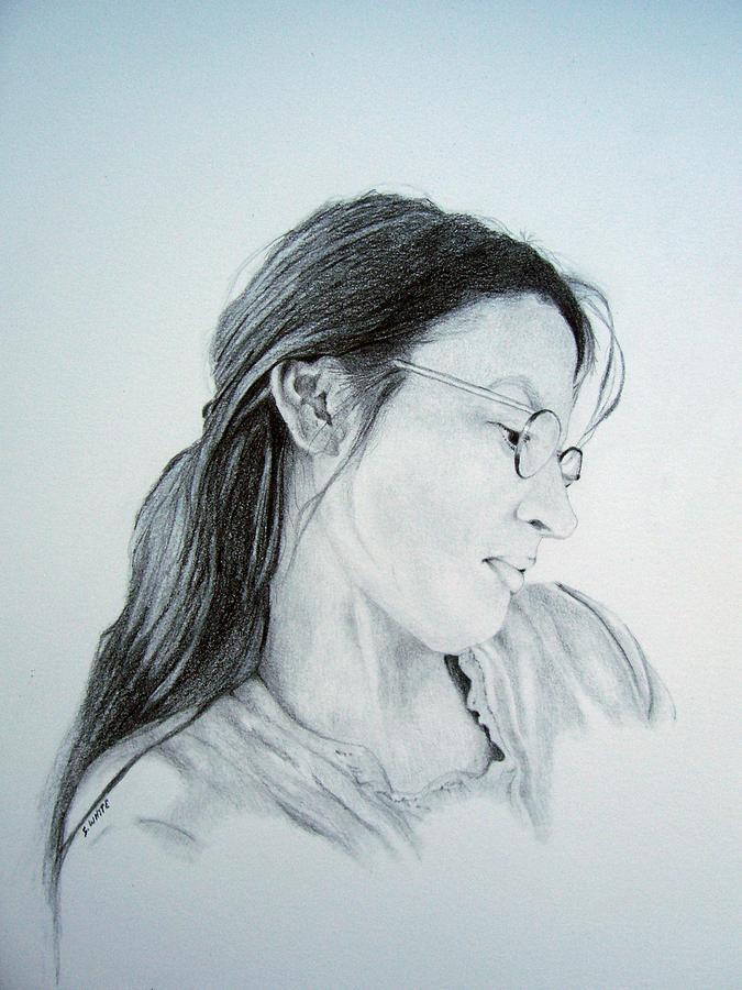 Woman Drawing - Beautiful Woman by Stan White