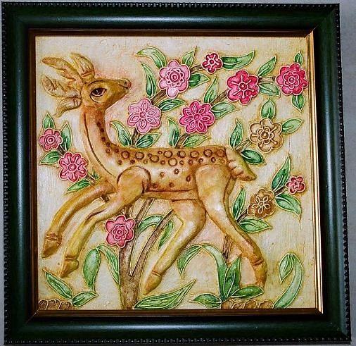 Deer Relief - Beauty by Kalasiddhii Art