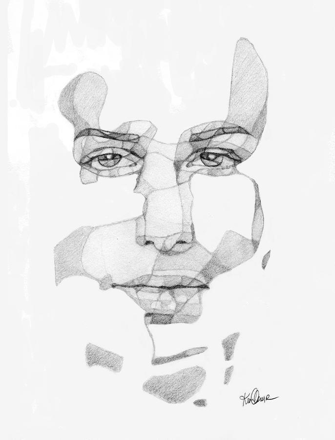 Graphite Drawing - Beauty  by Karen Clark
