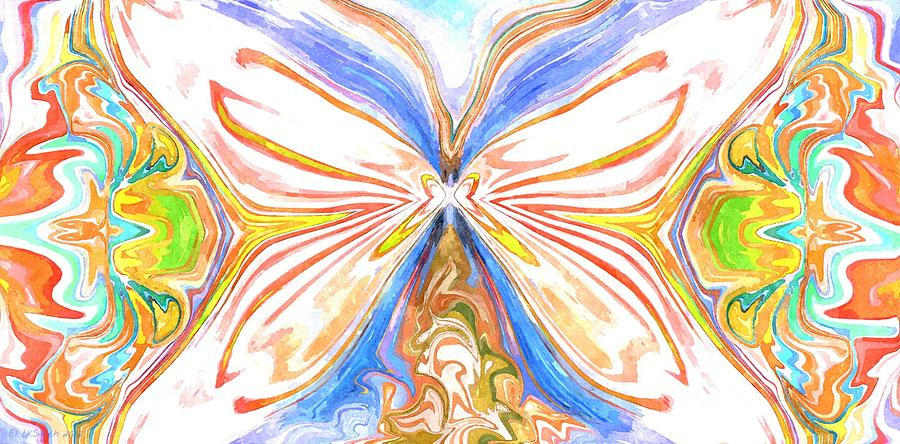 Butterfly Painting - Beauty Of The Butterfly 2 - Abstract 200 by Lynda K Cole-Smith