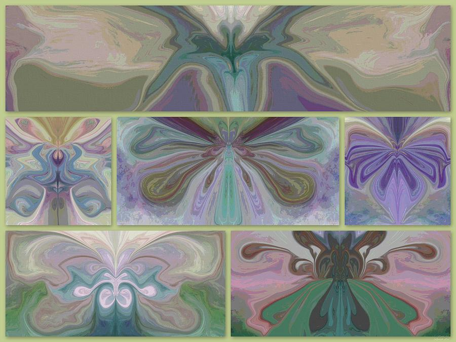 Butterfly Collage Painting - Beauty Of The Butterfly 2 - Collage 1 by Lynda K Cole-Smith