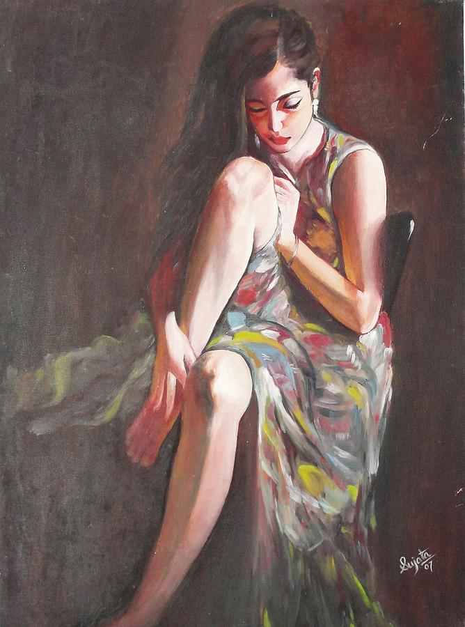 Female Painting - Beauty  by Sujata Singh