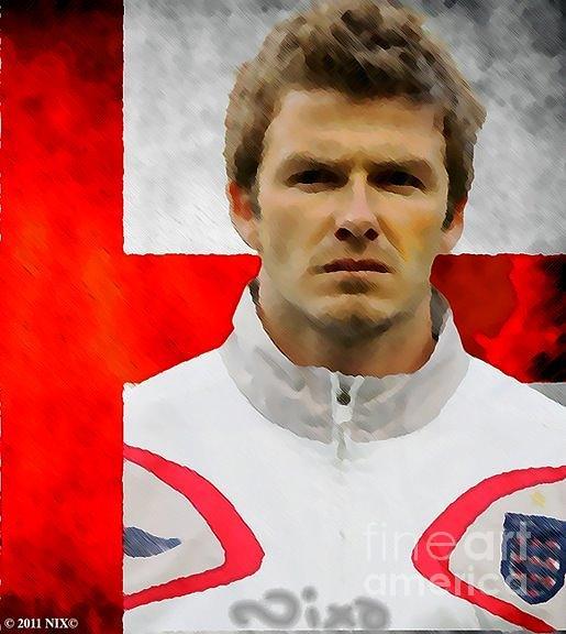 David Beckham Painting - Beckham Nixo by Nicholas Nixo