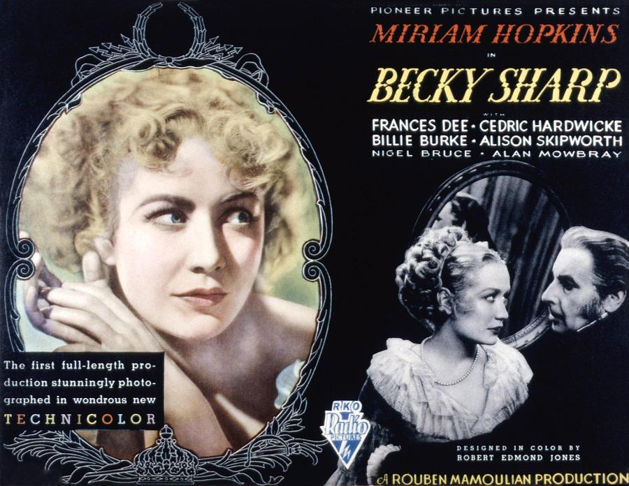 1930s Movies Photograph - Becky Sharp, Miriam Hopkins, Cedric by Everett
