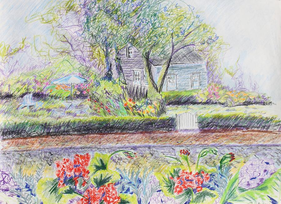 Landscape. Drawing - Bed And Breakfast View by Thomas J Nixon