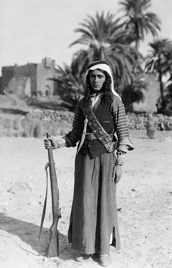 1926 Photograph - Bedouin Youth, C1926 by Granger