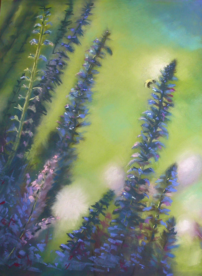 Landscape Painting - Bee Still #2 by Judy Albright