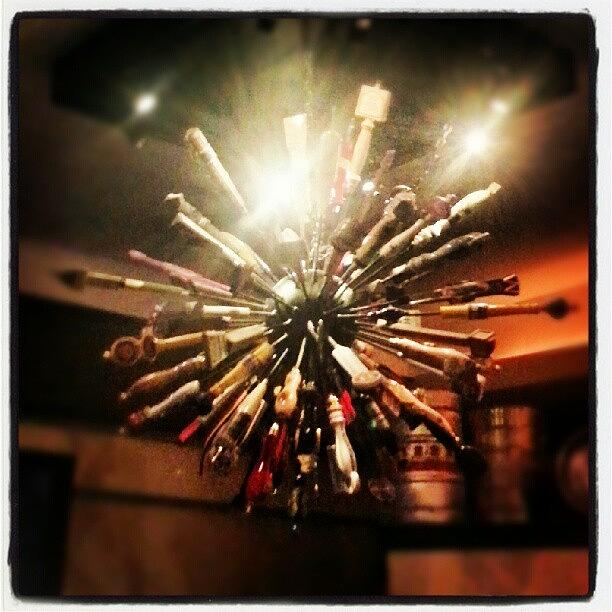 Beer Tap Handle Chandelier Photograph By Jeff A