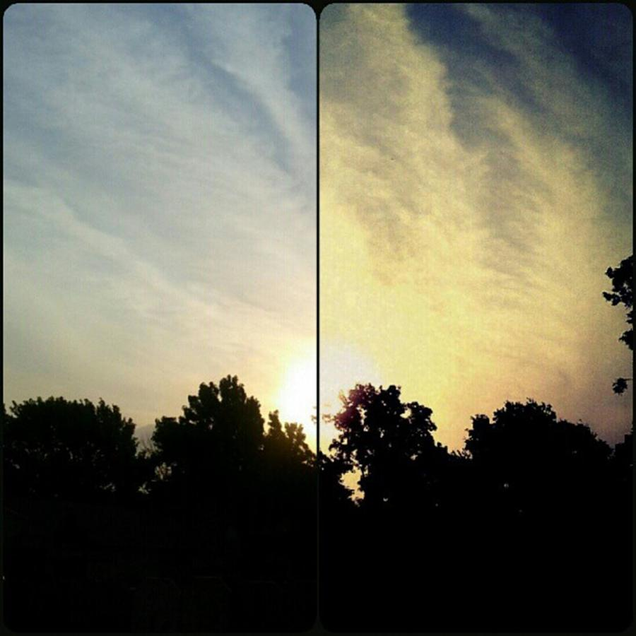 Andrography Photograph - #before & #after #sunrise #sky #clouds by Kel Hill