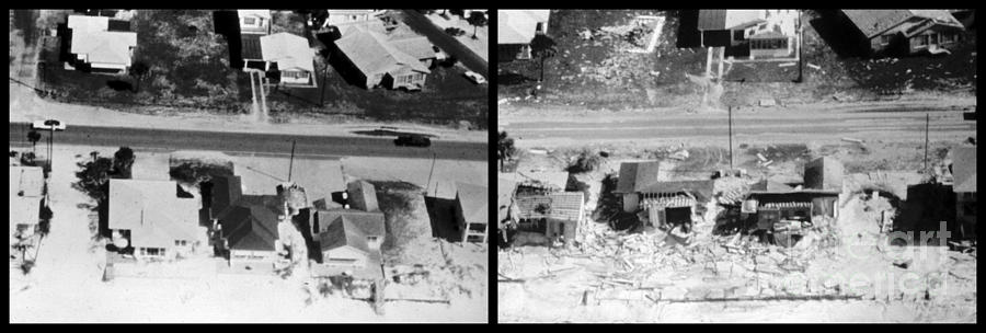 History Photograph - Before And After Hurricane Eloise 1975 by Science Source