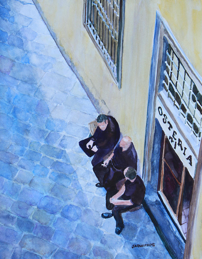 Florence Painting - Before The Dinner Rush by Jenny Armitage