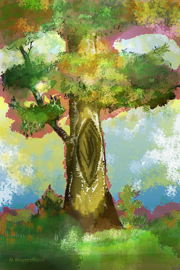 Tree Digital Art - Before The Fall by Melisa Meyers