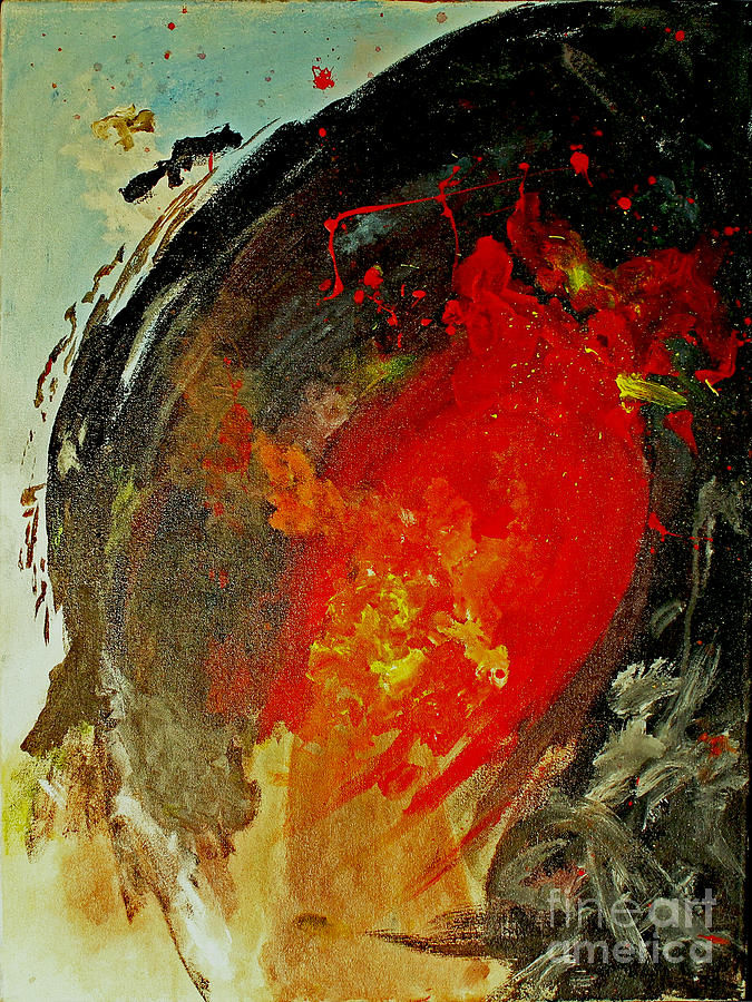 Abstract Painting - Beginning Of Cancer by Matteo Leggi