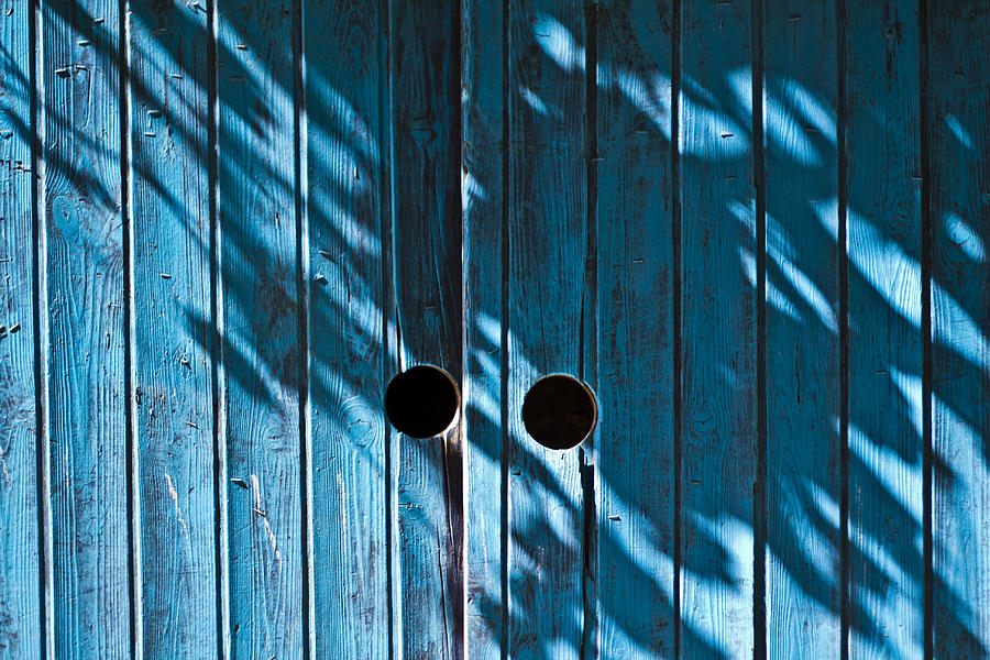 Behind Photograph - Behind  Blue Doors by Tal Richter