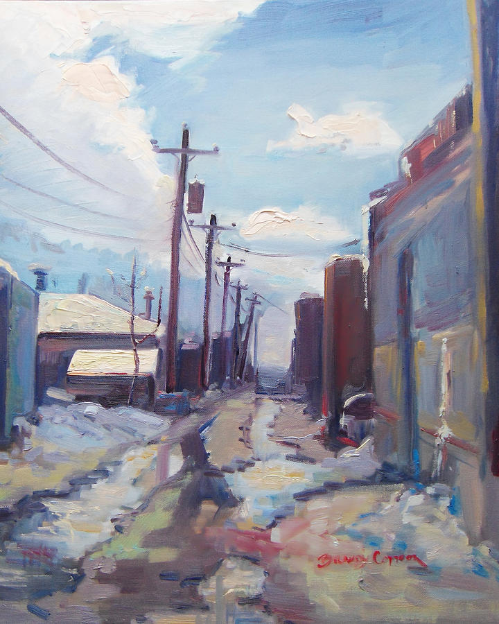 Urban Painting - Behind The City Of Craig  by Brandy Cattoor