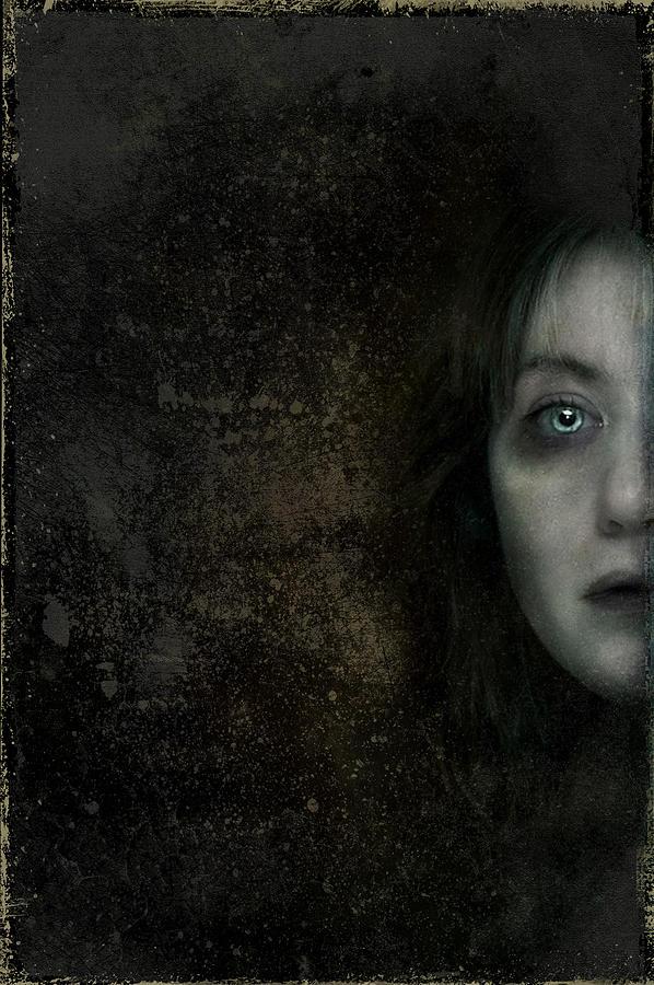 Scared Digital Art - Behind The Door by Hazel Billingsley