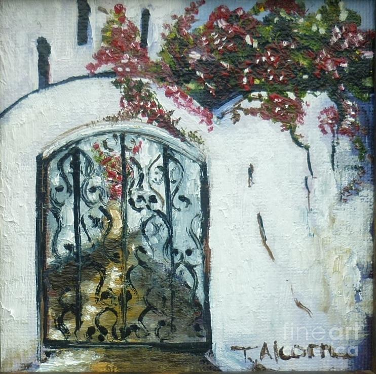 Whitewash Painting - Behind The Iron Gate by Therese Alcorn