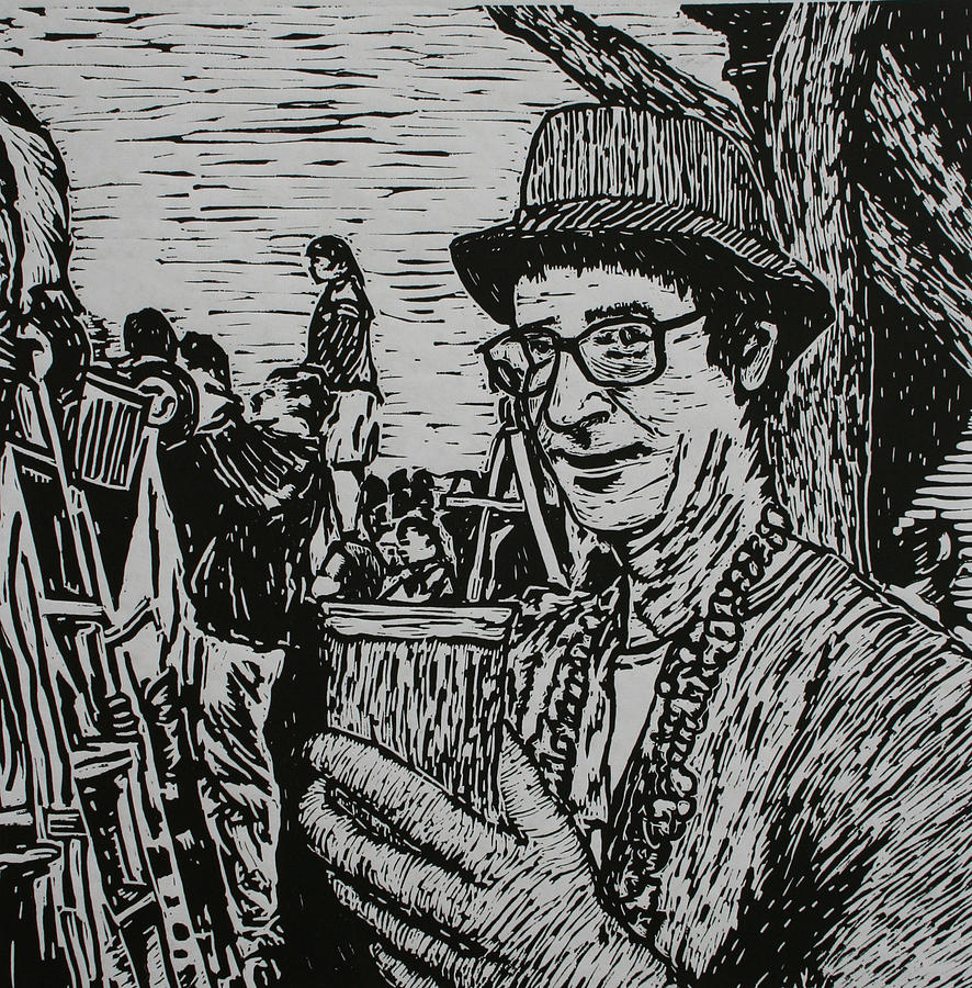 Mardi Gras Drawing - Behind The Parade by William Cauthern