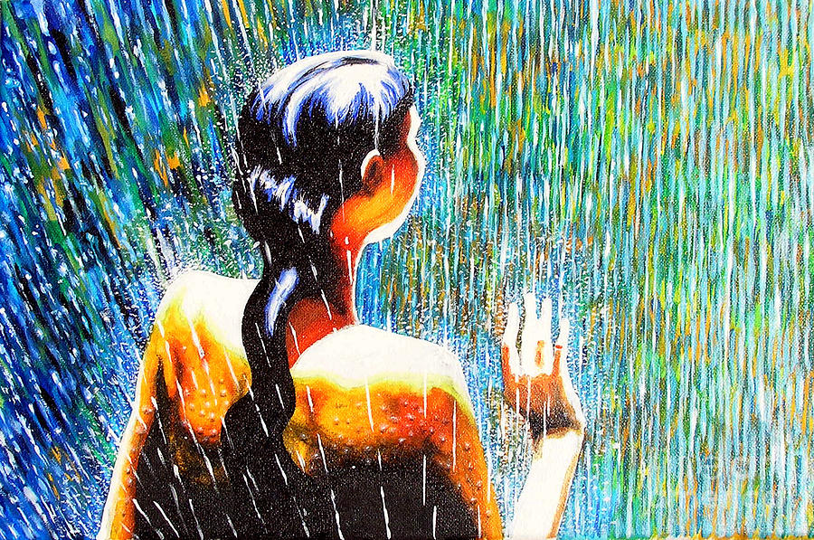 Rain Painting - Behind The Rain by Jose Miguel Barrionuevo