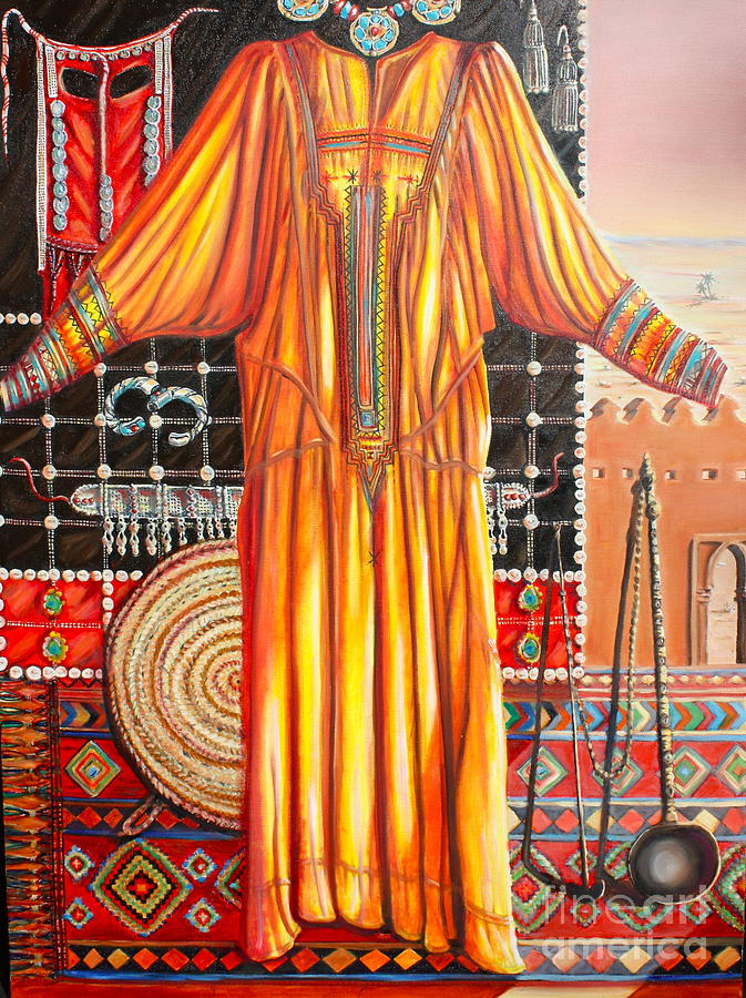 Saudi Arabia Painting - Behind The Veil Part One Asif by Yvonne Ayoub