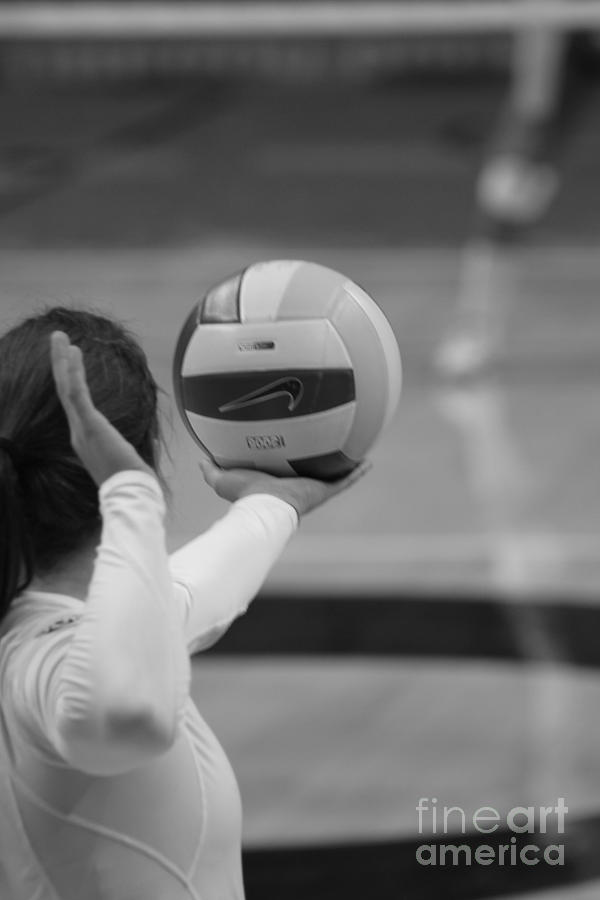 Volleyball Photograph - Being Served by Laddie Halupa