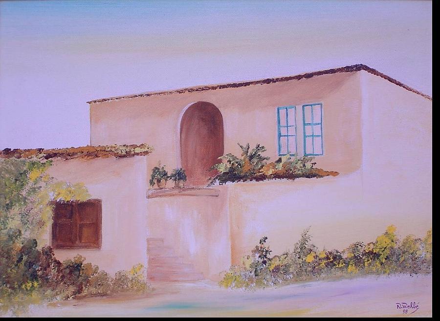 Bekaa House Painting by Nabil Wehbe