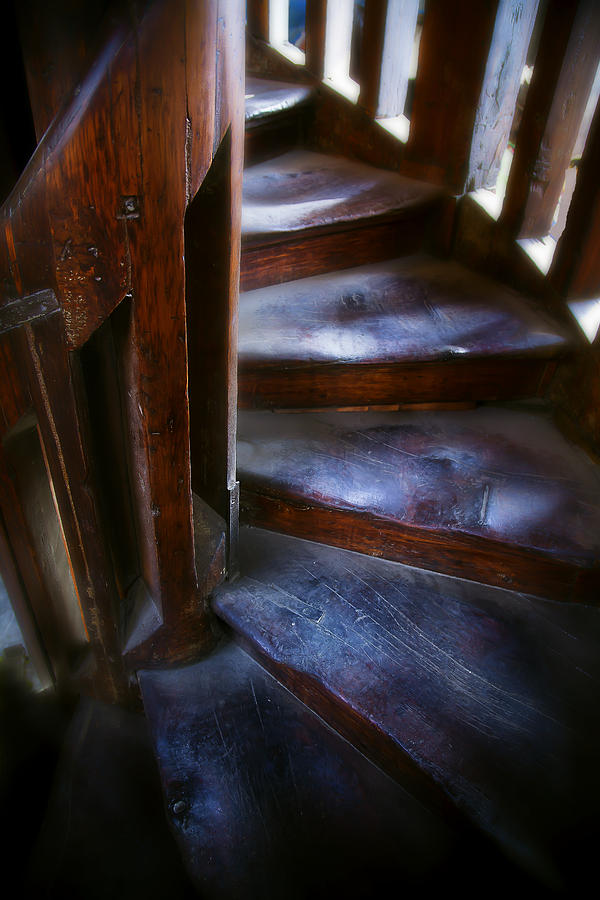 Spiral Staircase Photograph - Bell Tower Steps II by John  Bartosik