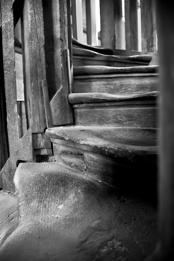 Antiquity Photograph - Bell Tower Steps1 by John  Bartosik