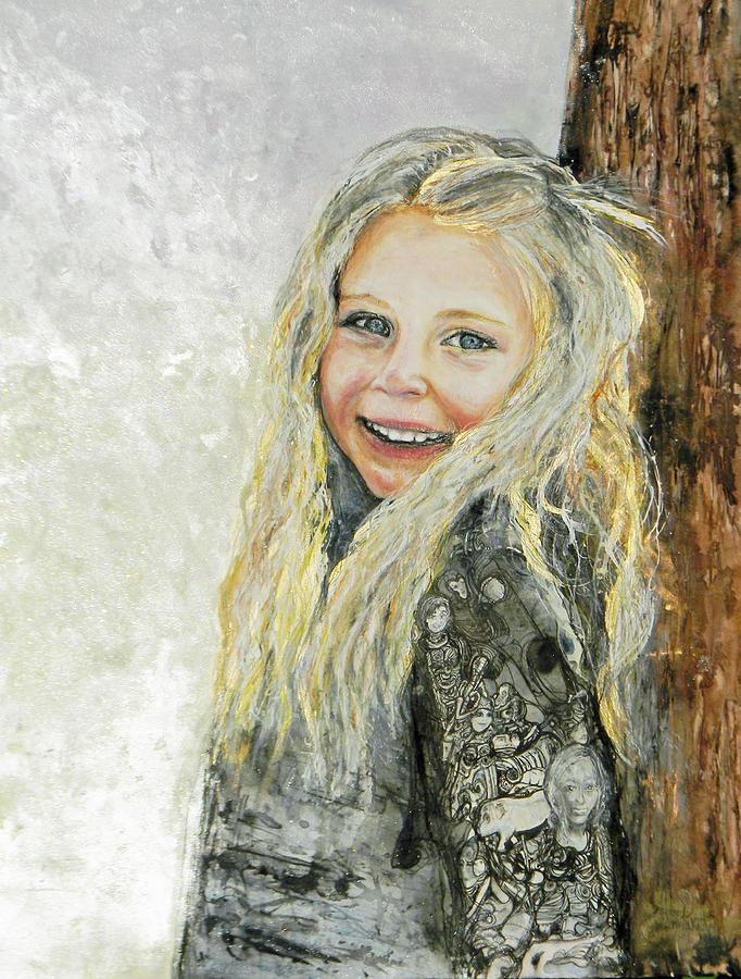 Bella commission  portrait by Anne-D Mejaki - Art About You productions