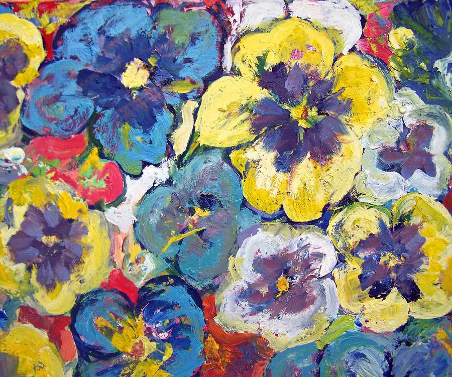 Pansies Painting - Bellagio Pansies by Patricia Taylor