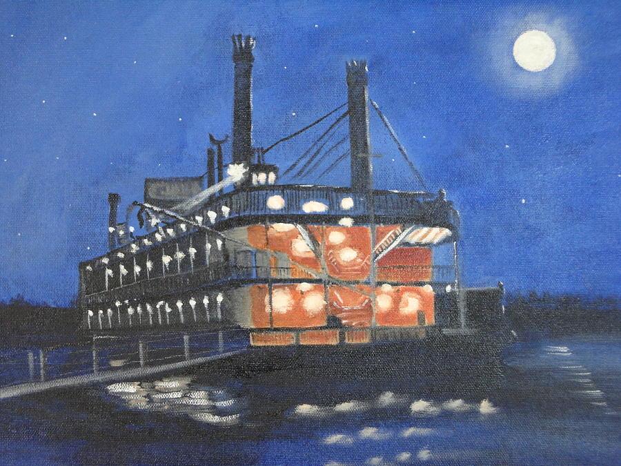 Show Boat Painting - Belle Of Cincinnati by Lynette Brown