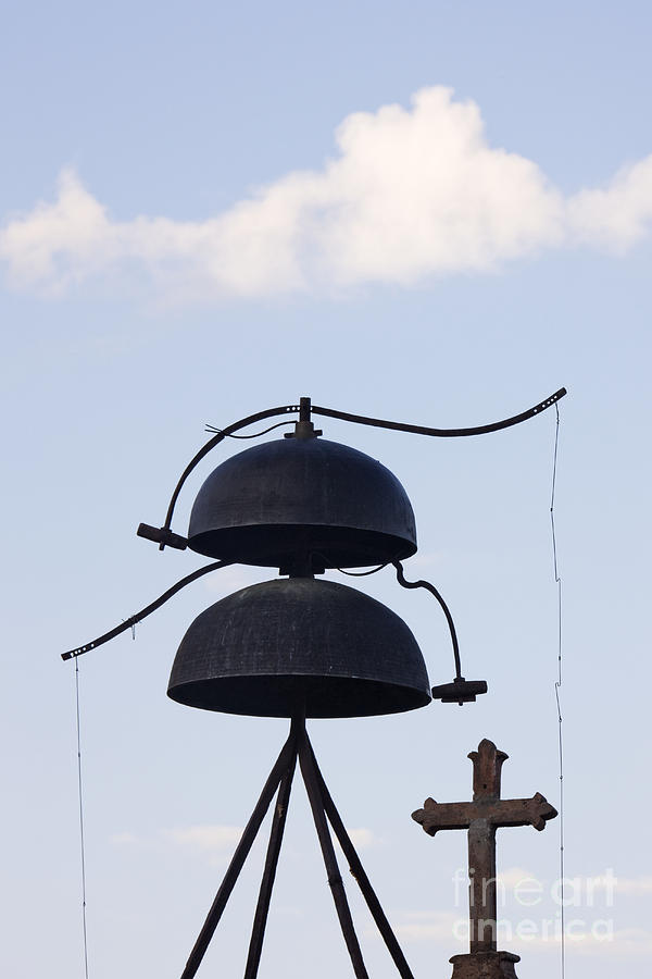 Architectural Detail Photograph - Bells And Cross by Jeremy Woodhouse
