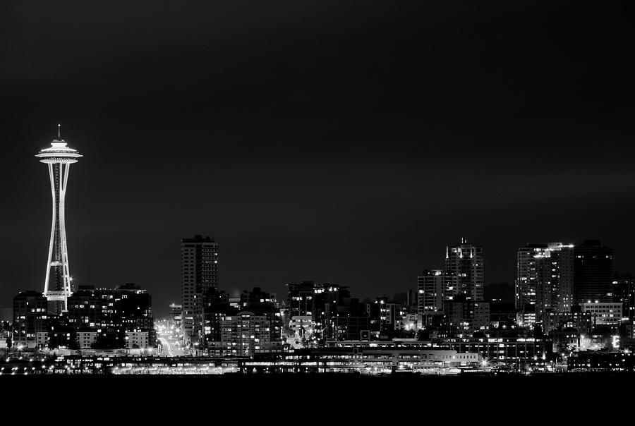 Horizontal Photograph - Belltown & Space Needle by Andrew A Smith