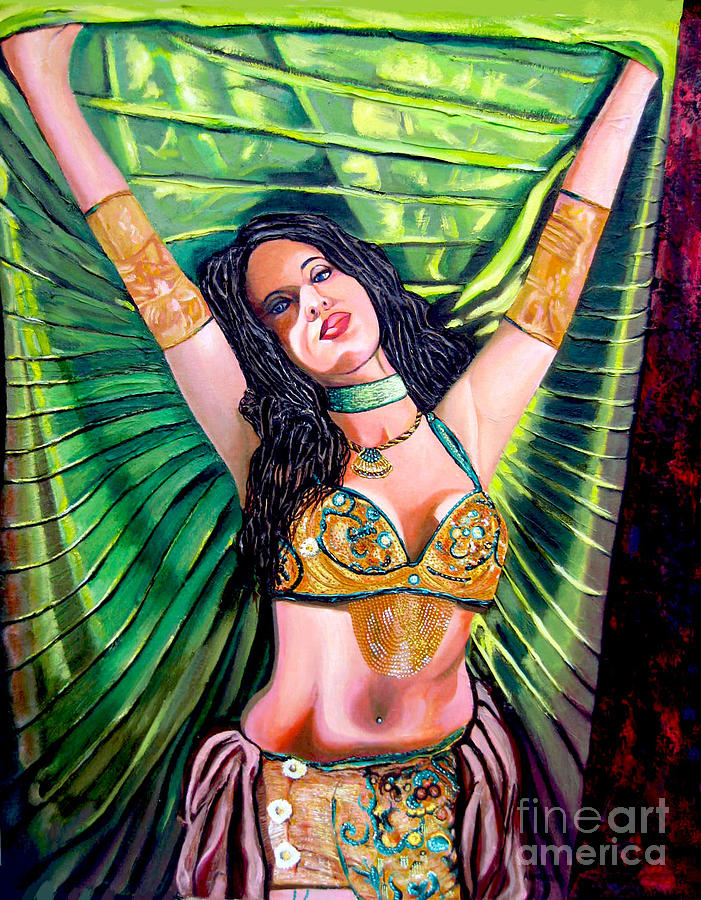 Girl Painting - Belly Dancer by Jose Manuel Abraham