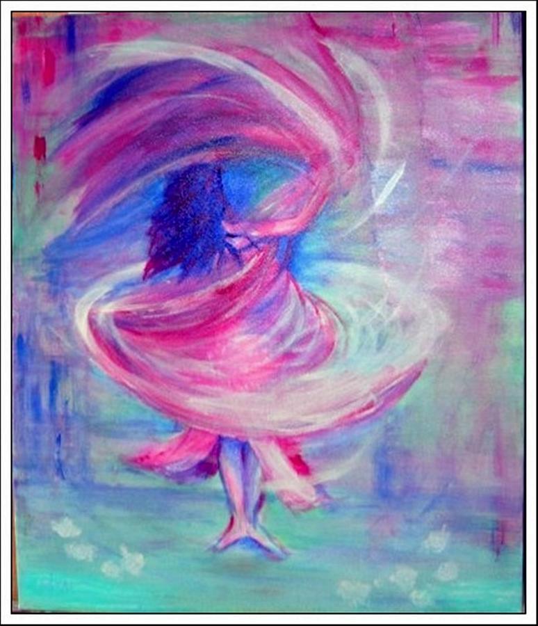 Belly Dancer Painting - Belly Dancer by Regina Levai
