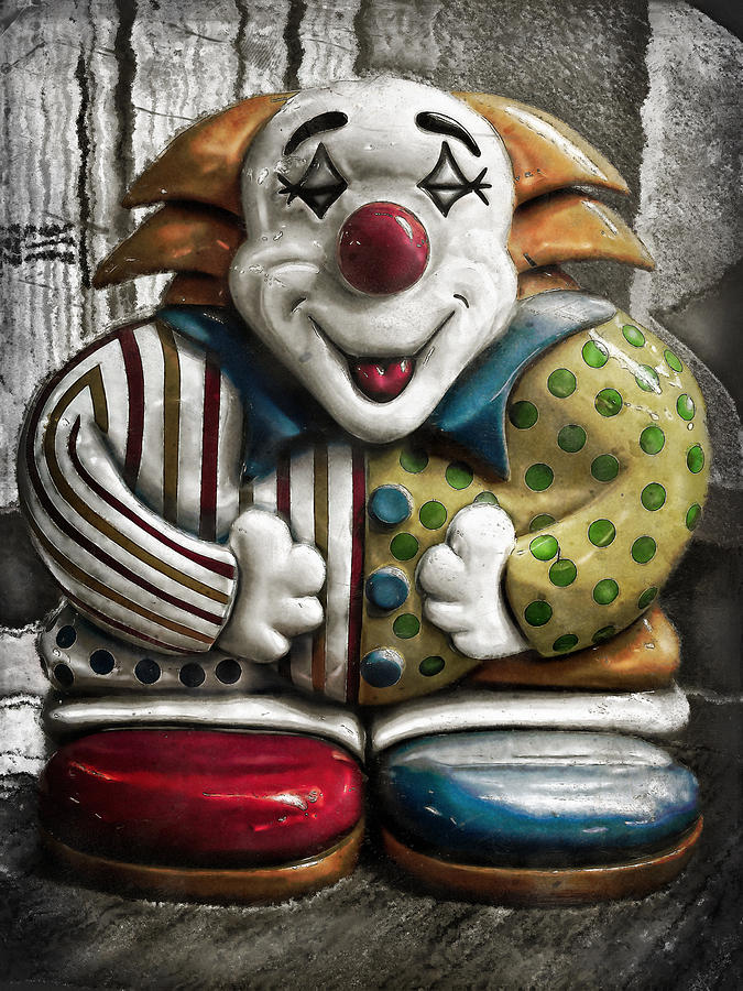 Clown Photograph - Belly Laugh by Colleen Kammerer