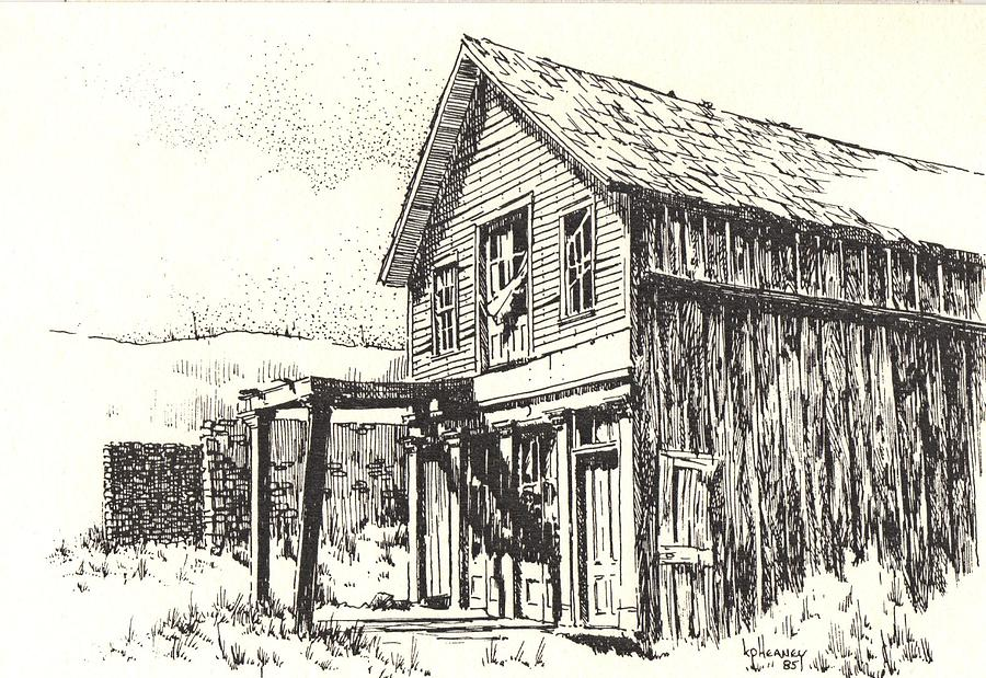Ghost Towns Drawing - Belmont Ghost Town Nevada by Kevin Heaney